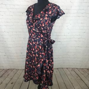 Hi There by Karen Walker Cherry Wrap Dress Size 4